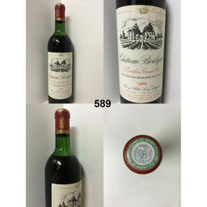 VIN ROUGE Château Berliquet 1970 - Casier : 589