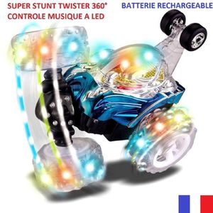VOITURE - CAMION STUNT TWISTER RADIO CONTROL MUSIQUE A LED. taille