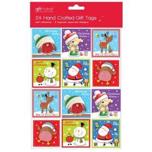 120 Nouveauté Cartoon Santa étiquettes de Noël Autocollant Étiquettes-Cadeaux Nom Noël Présent