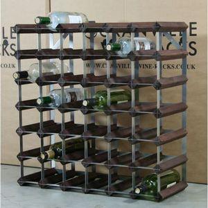 Cranville Wine Rack de rangement 42 bouteille bois en pin et Métal Casier à vin Self Build