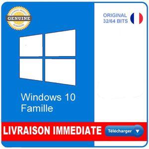 BUREAUTIQUE À TÉLÉCHARGER Windows 10 Home/Famille Version Téléchargeable