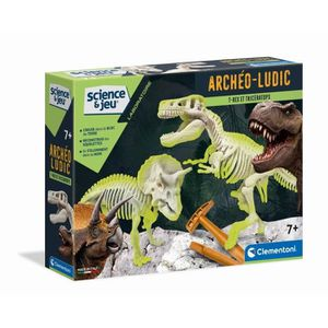 HISTOIRE - GEO CLEMENTONI Archéo Ludic - T-Rex & Tricératops Phos