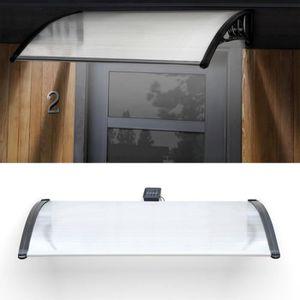 MARQUISE - AUVENT Marquise d'accueil à LED solaire 80X120 cm polycar