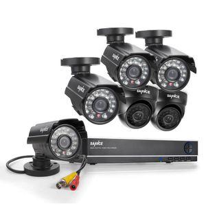 CAMÉRA DE SURVEILLANCE SANNCE 8CH Kit Vidéosurveillance + 6 Caméras 800 T