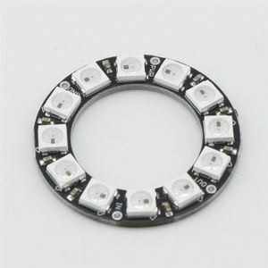 LAMPE A POSER 5050 12-Bit RGB LED Ring WS2812 Round Decoration B