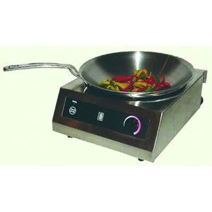 PLAQUE INDUCTION Plaque à induction avec wok - L385 x P520 x H243 m