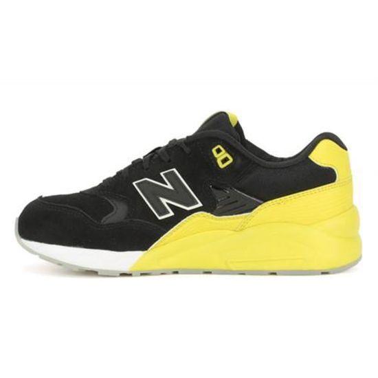NEW BALANCE 580 NOIR JAUNE - Cdiscount Chaussures