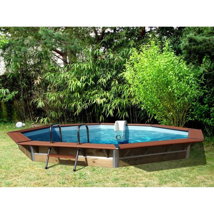 piscine bois hors sol octogonale 4 60x1 11m achat vente kit piscine piscine bois hors sol. Black Bedroom Furniture Sets. Home Design Ideas