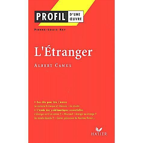 Question sur l'Etranger d'Albert Camus 1ère Français