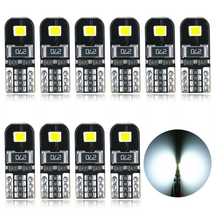 AGLINT Ampoules T10 LED CANBUS W5W 12V Intérieur De Voiture Lumière Dôme Feux De Plaque D'immatriculation Blanc
