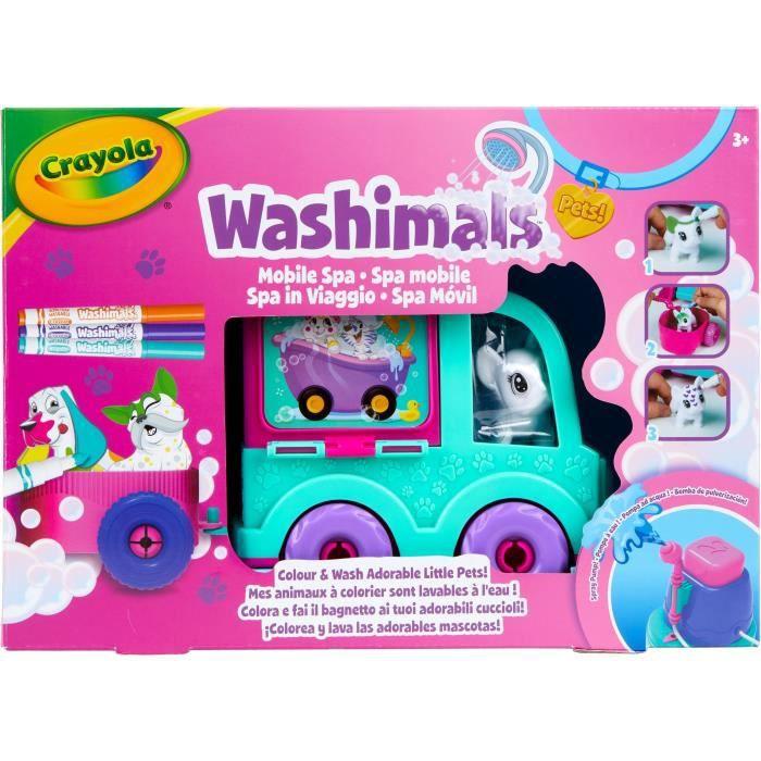 Crayola Voiture jouet de spa Washimals