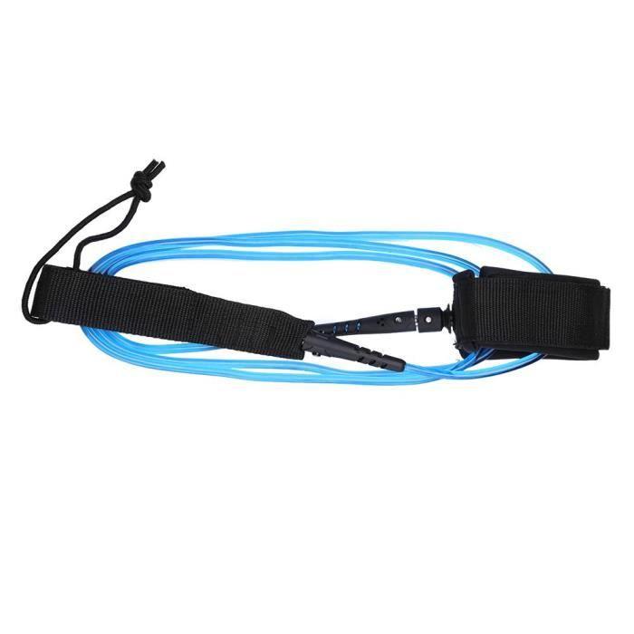 SKATEBOARD - SHORTBOARD - LONGBOARD - PACK(TPU)-Corde de traction de corde de pied de planche de surf 6ft5.5mm (noyau blanc)