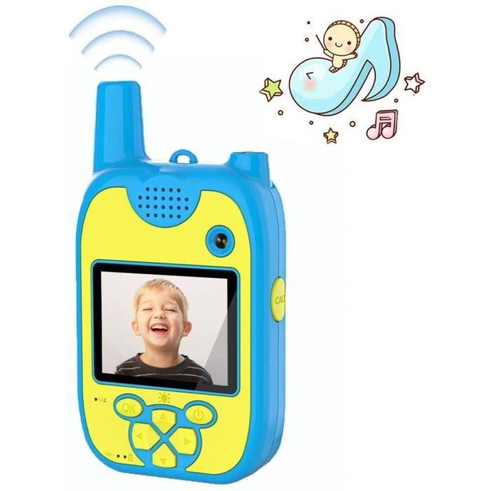 Talkie Walkie Enfants Appareil Photo Enfants 1080P Double Objectif 8 Mégapixels pour Enfants avec Talkie Walkie Rechargeable