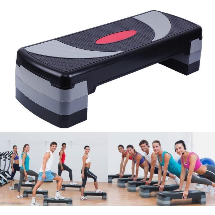 Yonntech 80cm Step Board Aerobic Step avec 3 niveaux d'étape réglables Stepper Exercice Stepper pour Home Gym Fitness Yoga Sport