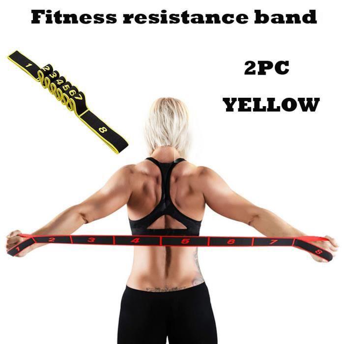 Résistance Bande Élastique Exercice Ceinture De Yoga En Caoutchouc Fitness Formation Stretch Sport #789 yoga fitness