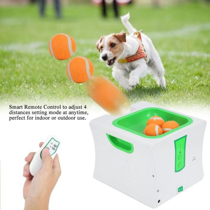 Jouet Chien Ball Machine Lanceur Balle Tennis Automatique Jouet Fetch Machine Pet Hyper Pour Chien Game