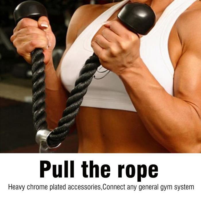 Nylon noir Biceps Triceps Muscle Pull Corde Cordon Gym Exercice équipement de Fitness-STR