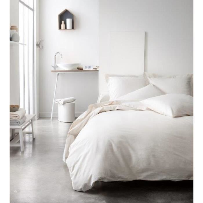 TODAY Housse de couette 100% Coton 240x260 cm ivoire TODAY