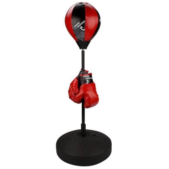 MPRO- Superbe qualite- Punching ball Avento reflex junior noir-rouge2109