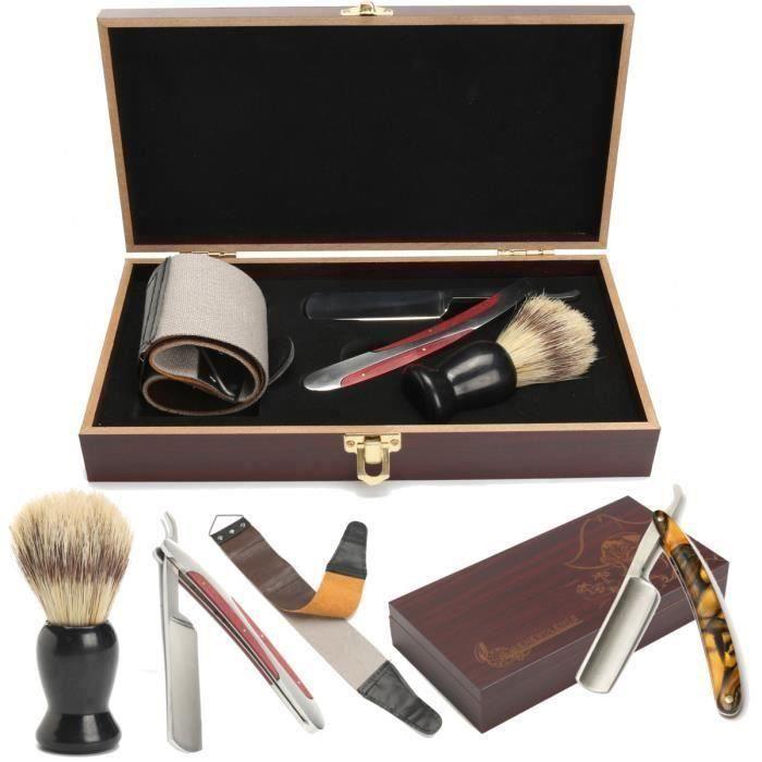 Kit De Coupe Chou Rasoir Pro Homme Barbier Traditionnel co44487