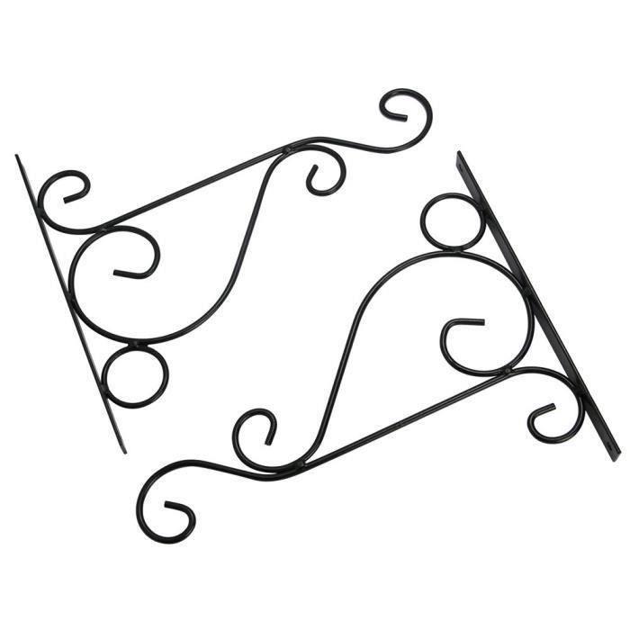 2pcs Lumière Panier suspendre Support Crochet Plante Mural pour intérieur ou extérieur (S: 21*26cm)
