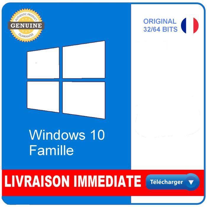 Windows 10 Home/Famille Version Téléchargeable