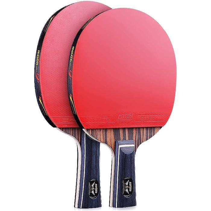 raquette de tennis de table,raquette de ping pong professionnelle de jeu 6 étoiles poignée confortable parfaite pour les activités