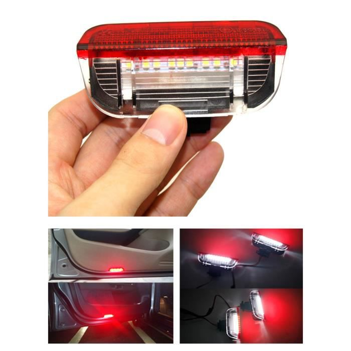 Lumière d'Avertissement d'Avertissement de Portière de Voiture, 2x LED, Sans Erreur, Lumière de Courtoisie, P
