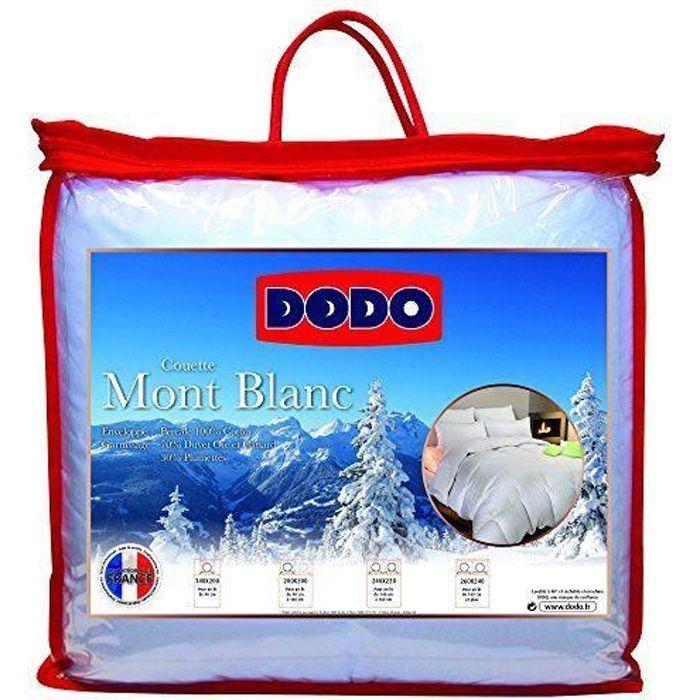 Dodo Couette Naturelle Mont Blanc Percale 70% Duvet d`Oie et de Canard 200 x 200 cm - MONTBLANC200/200
