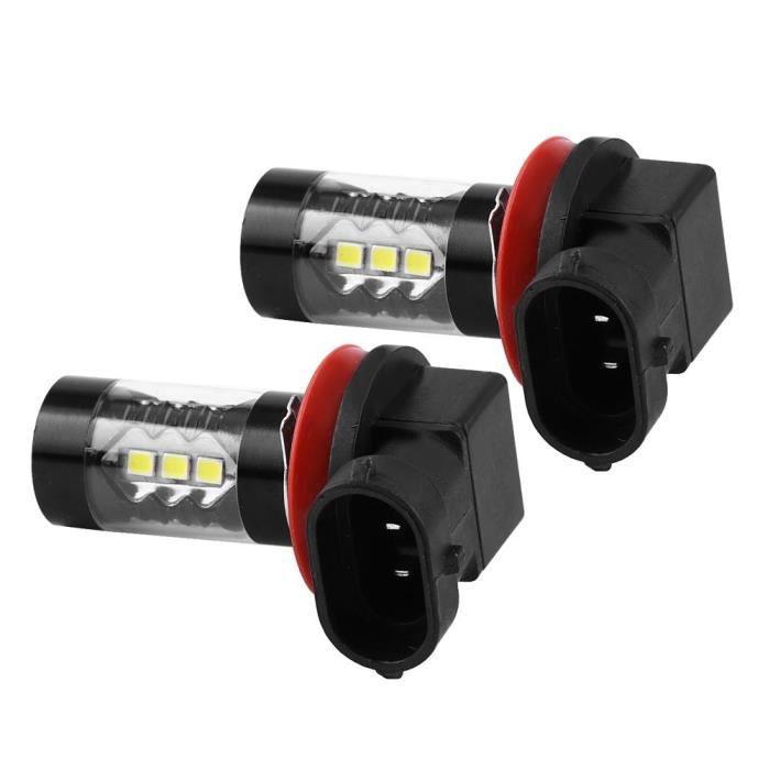 HURRISE Ampoule LED H11 2 pcs H11 H8 12V-24V 80W Voiture Haute Puissance Brouillard LED Ampoules De Jour