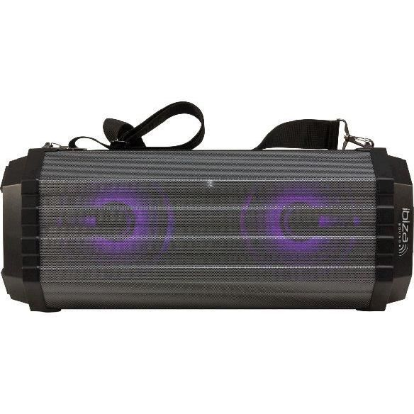 IBIZA FREESOUND200 - Enceinte nomade bluetooth à LED - Tuner FM - Ports USB et TF - Entrées micro & AUX