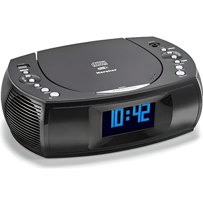 Karcher UR 1309D Radio-réveil avec Lecteur MP3-CD et Radio Dab+-FM 20 Stations de Stockage - Réveil avec Double Alarm UR 1309