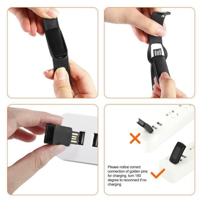 Leshp Bracelet Bluetooth - Moniteur De Suivi De Sommeil Imperméable De Silicium
