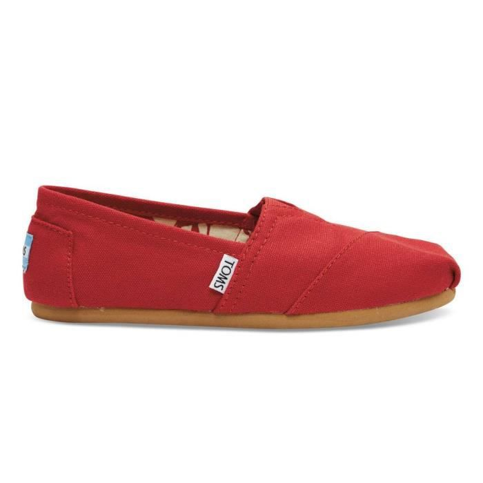 TOMS Classics, Espadrille Femme - Rouge/Red