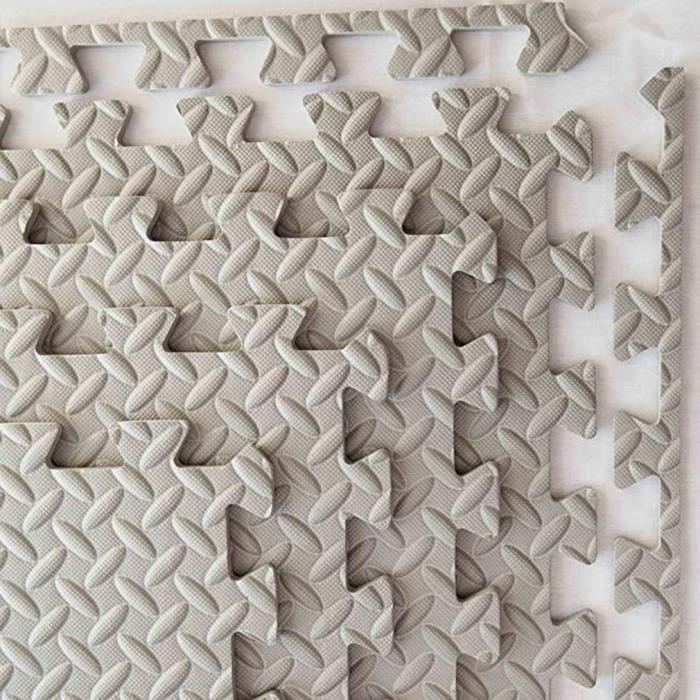 8 pcs Tapis de sport tapis de sol équipement de salle de mousse épaissir imperméable à l'eau antidérapant-30.5*30.5cm