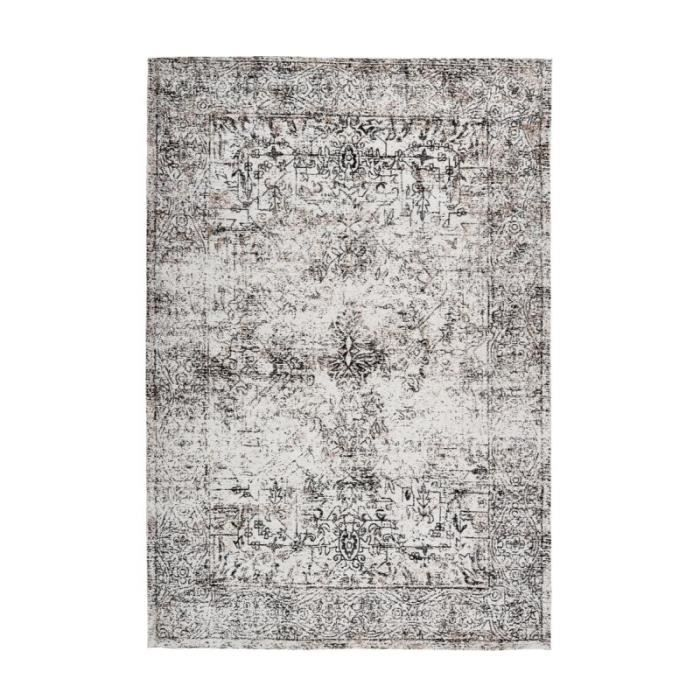 Tapis Vintage à Poils Courts -iglesia- Anthracite - Paris Prix 200 x 290 cm Gris