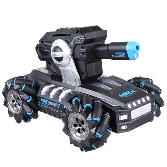 1 Pc RC Car Tank 360 Degrés Rotation Voiture Télécommande Waterbomb Chargeable pour Enfants CHEMIN DE TABLE