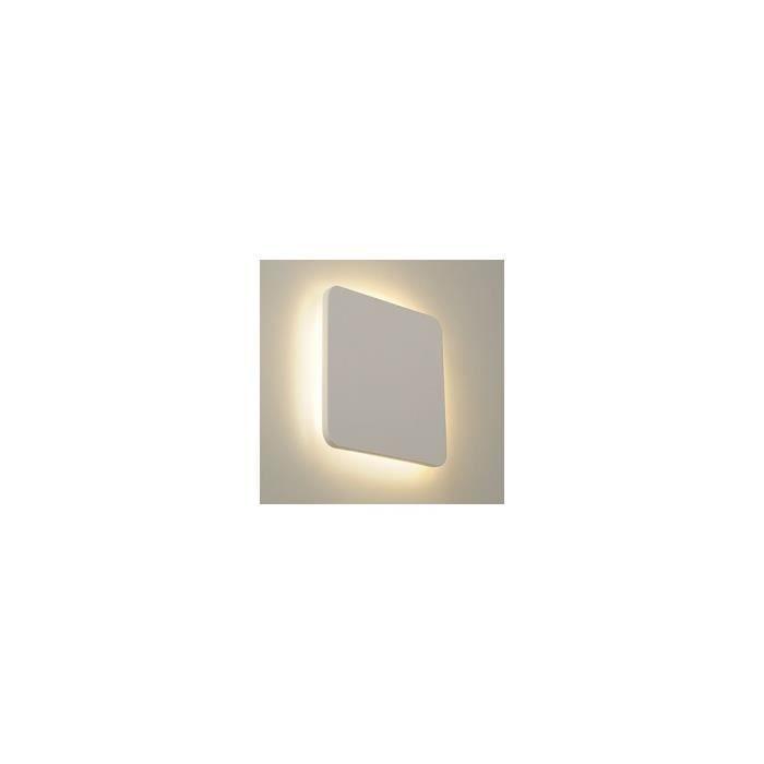 PLASTRA SQUARE applique, carré, plâtre blanc, 48 LED, 3000K