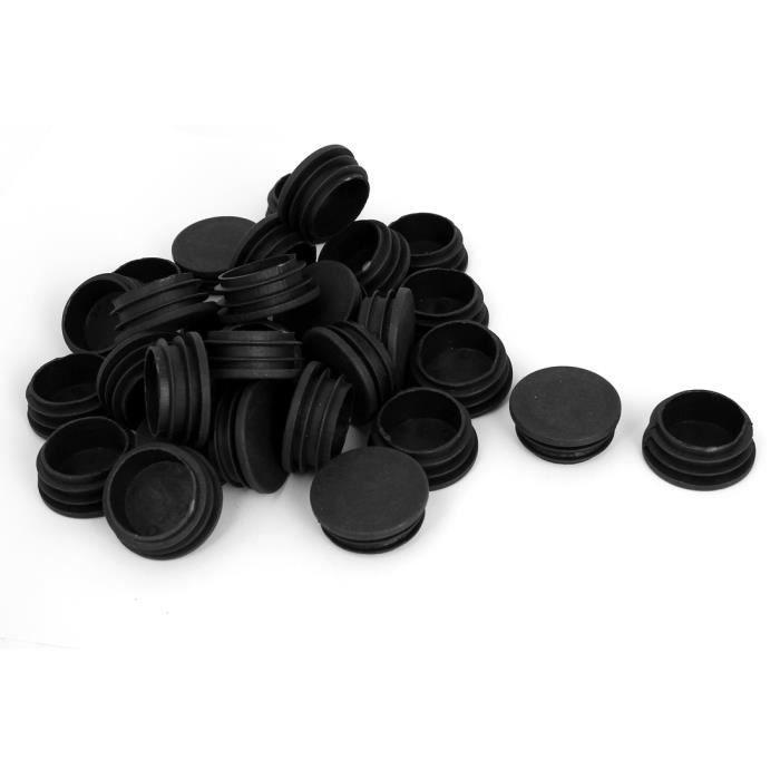 10 pcs capuchon pour poteau rond 38 marron plastique Bouchons tube Bouchons