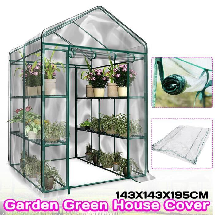 TEMPSA Couverture de Serre Protection Plants PVC Transparente Jardin à effet de Serre Anti Givre Glace Anti Insect Étui
