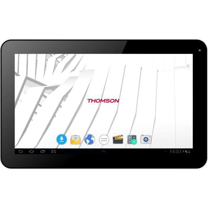 THOMSON Tablette Tactile - Ecran 10- - Android 6.0 - Quad Core A33 1.3 Ghz - 1 Go RAM - Stockage 16 Go