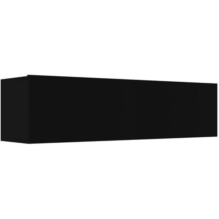 vidaXL Meuble TV Noir 120x30x30 cm Aggloméré