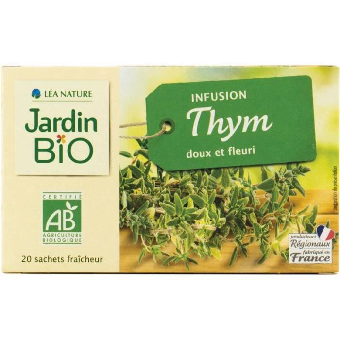 JARDIN BIO Infusion thym bio - 20 x 28g