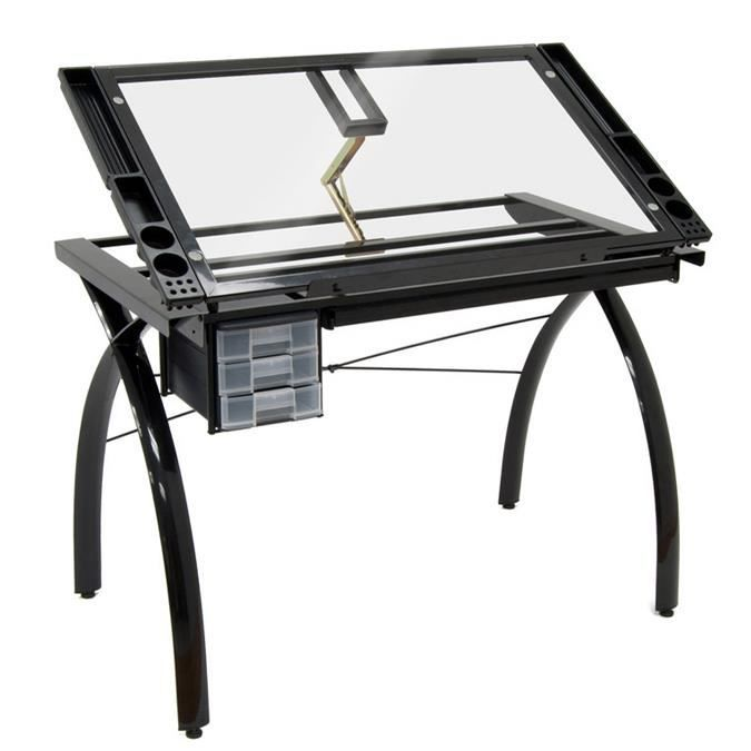 Table dessin futura noire achat vente table a dessin table dessin fut - Table de dessin ikea ...