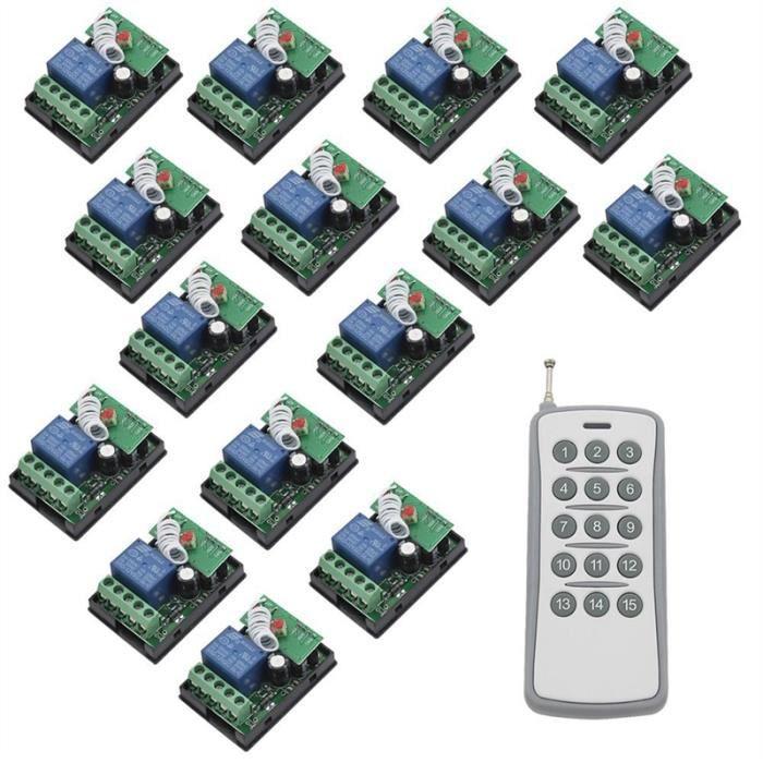 Lot de 2 modules de relais autobloquants 5 V 1 canal Bouton marche//arr/êt automatique Commutateur de contr/ôle MCU