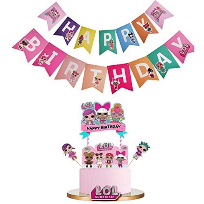 Happy Birthday Party Set XL 64 pièces POUR 6 invités Enfants Anniversaire Décoration