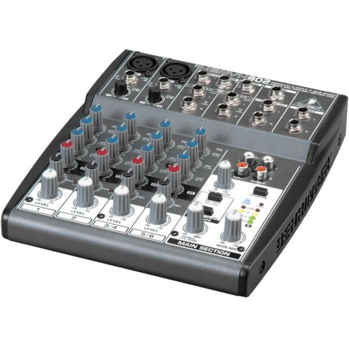 behringer xenyx 802 table de mixage analogique table de. Black Bedroom Furniture Sets. Home Design Ideas