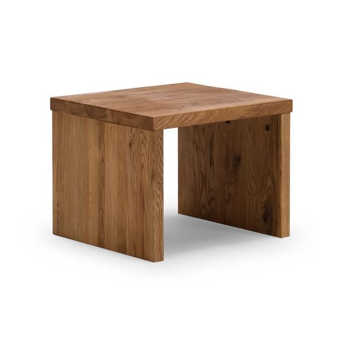 Table de chevet zamora en ch ne huil miel clair massivum for Table de chevet bois clair