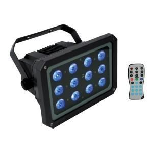 projecteur led d 39 ext rieur 12 led rgb 3w lampe et spot. Black Bedroom Furniture Sets. Home Design Ideas