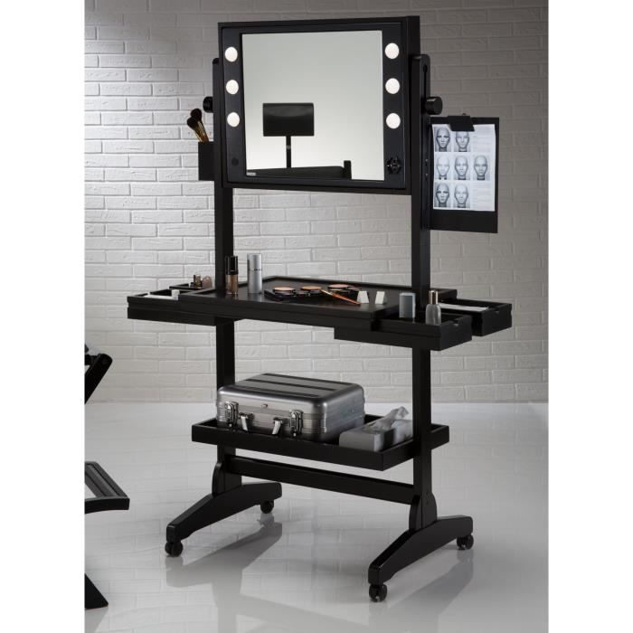 table de maquillage professionnel sur roues achat vente coiffeuse table de maquillage. Black Bedroom Furniture Sets. Home Design Ideas